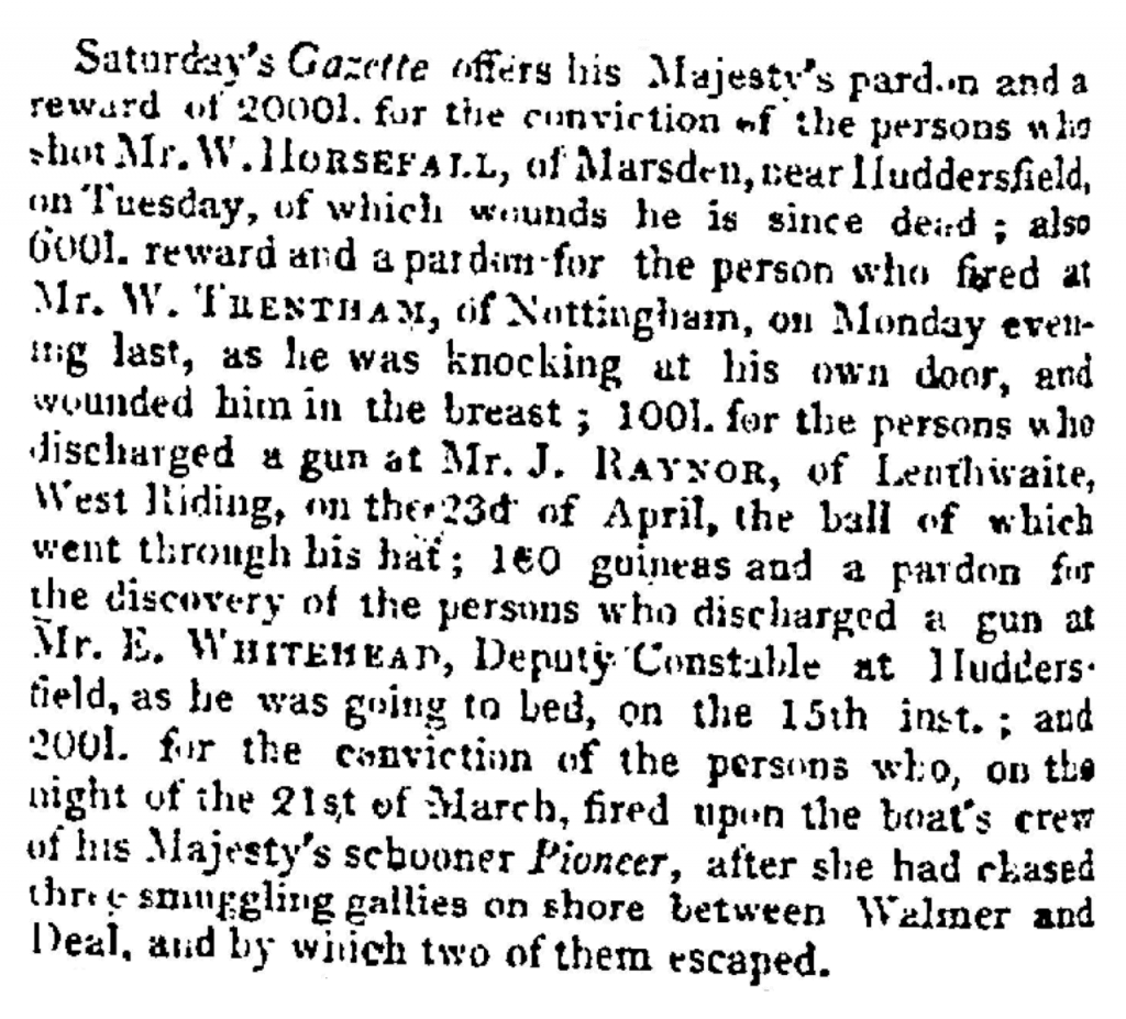 The Times (04.May.1812) - Pardon and Reward