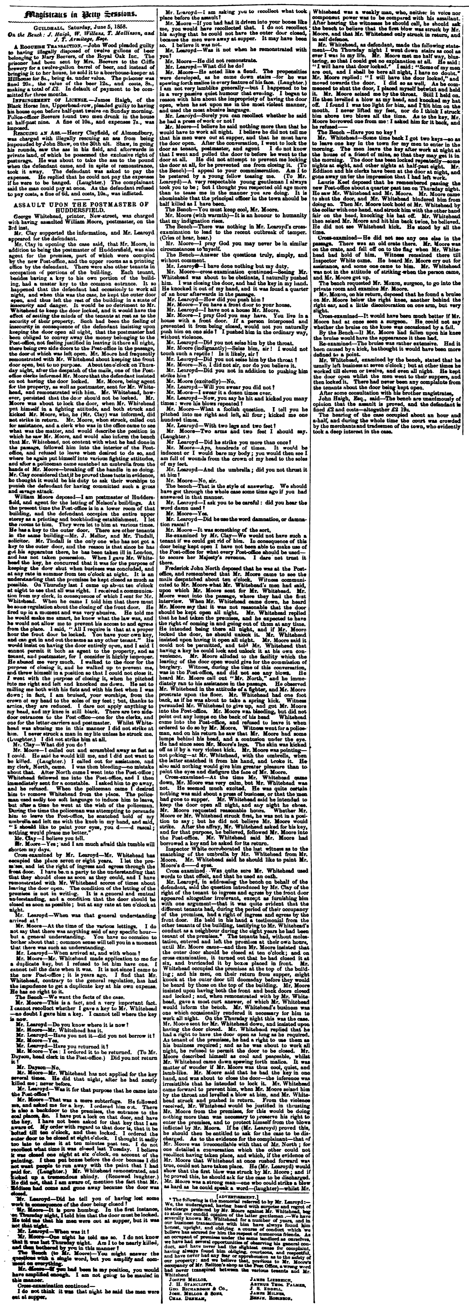 Huddersfield Chronicle 12 June 1858