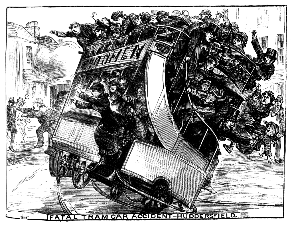 melodramatic front cover of the Illustrated Police News (14/Jul/1883)
